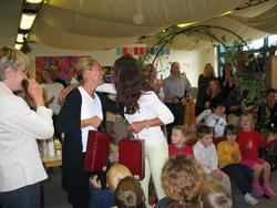 Jette takkede Henriette (Carolines mor) for hendes arbejde.
